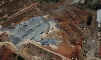 Sancaktepe'de salgın hastanesindeki çalışmalar havadan görüntülendi