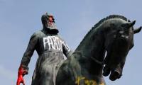 Brüksel'de Kral 2. Leopold'un bir heykeli daha tahrip edildi