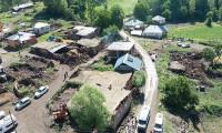 Depremden etkilenen Elmalı köyü havadan görüntülendi