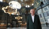 Cumhurbaşkanı Ayasofya Camii'nde