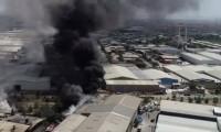 Konya'da hurda fabrikasında yangın çıktı