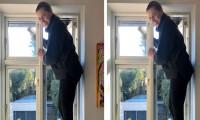 Danimarka Başbakanı temizlik yaparken poz verdi