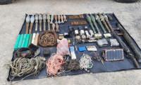 Hakkari'de teröristlerin kullandığı mühimmat ele geçirildi