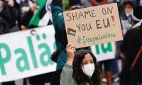 Berlin'de binlerce kişi İsrail'in saldırılarını protesto etti