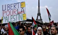 Fransız polisinden Filistin destek protestolarına müdahale
