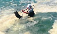 Deniz salyası Saros'a ulaştı