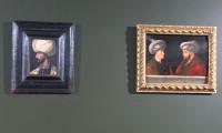 Fatih Sultan Mehmet'in ve Kanuni'nin  portresi yanyana