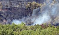 Fethiye'deki orman yangınında 2 dönüm alan zarar gördü