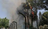 Atatürk tarafından hizmete açılan fabrikada yangın