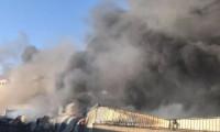 Uşak'ta fabrikada yangın paniği!