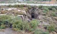 Konya'da yağmur sonrası dev yarıklar oluştu