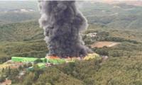 Şile'de fabrika yangını