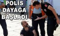 Polis vatandaşı dövdü