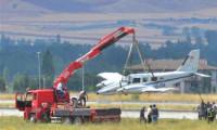 THK'nın uçağı gövde üzeri acil indi!