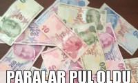 Bankadaki para uçtu