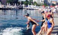 Genç Kulaçlar, Boğaz'da yarıştı
