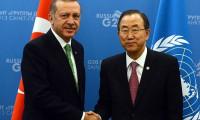 Erdoğan Ban Ki-mun ile görüştü