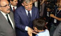 'Başbakan Gül' sloganıyla karşılama