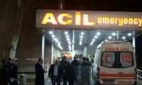 Adliye önüne ambulans getirildi