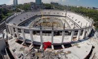 Vodafone Arena'da çatı iskelesi çöktü: 2 yaralı
