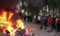 Kırşehir'de tehlikeli saldırı: 4 iş yeri yakıldı