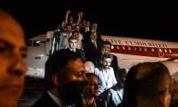 Türk işçiler Ankara'ya indi