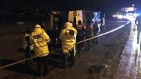 Yalova'da yolcu otobüsü devrildi: 12 yaralı