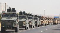 100 Araçlık askeri konvoy Kilis'e ulaştı