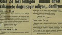 81 yıl önceki Atatürk'ün vefat haberi