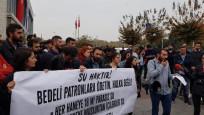 İBB önünde su zammı protestosu