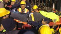 Çöken iskelenin altında kalan mühendisten 33 saat sonra acı haber
