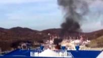 Rusya'da patlama sonrası siren sesleri duyuldu! O anlar kamerada