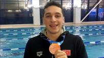 Milli yüzücü Ümitcan Güreş Avrupa üçüncüsü oldu