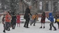 O ilde kar nedeniyle okullar tatil edildi