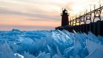Michigan Gölü buz tuttu