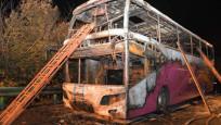 Otobüs yandı: 26 ölü, 28 yaralı