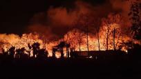 Kemer'de çöplük yangını ormanı tehdit ediyor