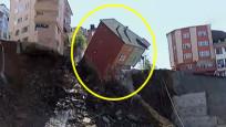İstanbul'da 4 katlı bina, canlı yayında çöktü