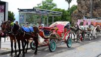 Antalya'da faytonlar kaldırıldı