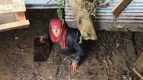 Araklı'daki selde kaybolan 7 kişiyi arıyor