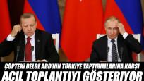 Çöpteki belge ABD'nin Türkiye yaptırımlarına karşı acil toplantıyı gösteriyor