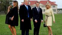 Macron ile görüşen Trump: Eyfel Kulesi'ndeki akşam yemeğimizi hatırladım