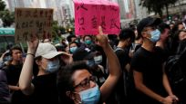 Hong Kong'daki protestolarda polis müdahalesi