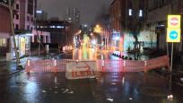 Boru patladı, cadde trafiğe kapatıldı
