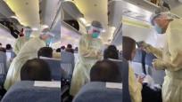 Çin'de yolculara virüs taraması yapılırken çekilen ürkütücü video
