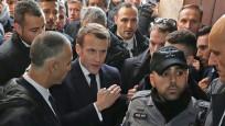 Macron Doğu Kudüs'te İsrail polisiyle tartıştı