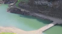 Kocaeli'deki barajda su seviyesi düştü, köprü ortaya çıktı