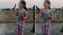 6 yaşındaki çocuğa ateş ettirdi
