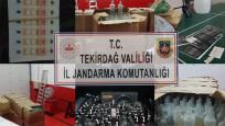 Tekirdağ'da sahte içki imal edilen deponun sahibi gözaltına alındı