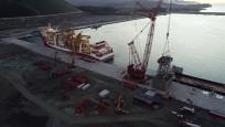 Kanuni sondaj gemisinin kule montaj çalışmaları başladı